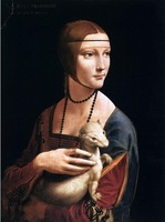 100% Hand Painted Portrait of Cecilia Gallerani (Lady with an Ermine), Leonardo Da Vinci Painting Reproduction  FREE SHIPPING
