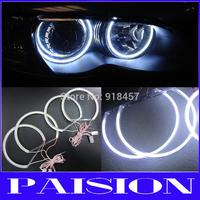 LED COB Angel Eye Halo Light  for BMW E46 3 Series White 6000K Non-Projector 12V