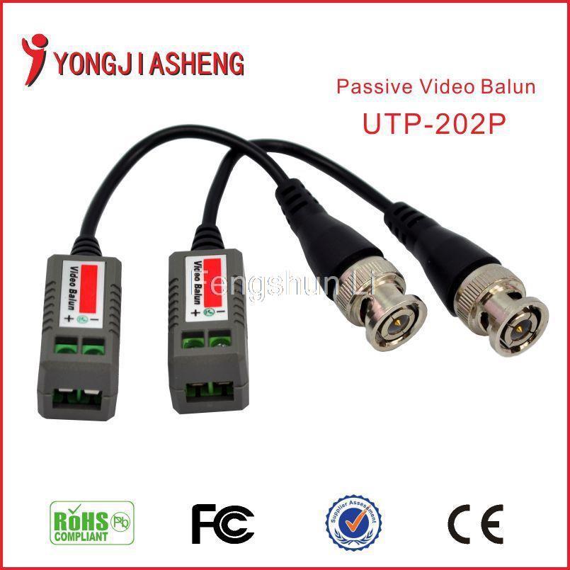 Twisted BNC Video Balun passive Transceivers UTP Balun BNC Cat5 CCTV UTP Video Balun Freeshipping(China (Mainland))