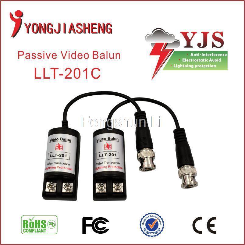 UTP Video Balun Transceiver BNC One Channel Vedio Balun Transceiver for CCTV Camera 201c passive video balun(China (Mainland))