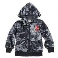 2Y-6Y boys Hoodies A3412# children kids camouflage print outerwear autumn winter zipper jacket coat sweatshirt clothing fleece