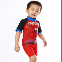 Swimsuit factory direct wholesale boys swimwear for kids beach boxer swimming Children Spiderman one pieces