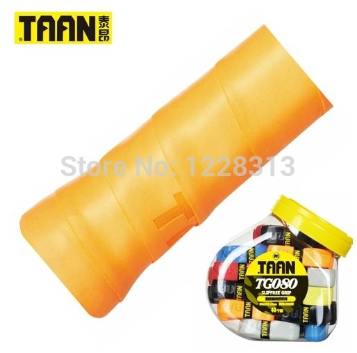 6PCS TAAN TG080 wholesale price badminton tennis sweatband tennis overgrip PU Leather grip tape free shipping(China (Mainland))