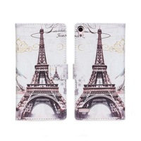 2014 New Retro Old Paris LA Tour Eiffel Tower Leather Case For Huawei Ascend P6 Phone Cases with Stand