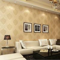 mural wallpaper roll gold fashion flock printing wall paper bedroom papel de parede listrado contact paper livingroom renovator
