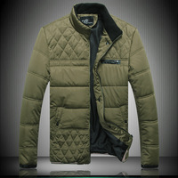 2014 new High quality men's plus size plaid cotton-padded jacket wadded jacket outerdoors winter jacket men