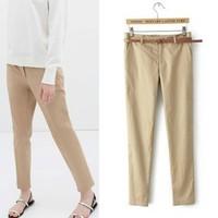 2014 New arrivals Ladies' Elegant casual pants cozy Trousers office-lady basic pants  casual slim brand design pants