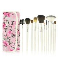 12 PCS Makeup Brushes Brush Set - Pink