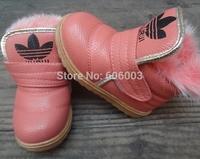 free shipping  2014 winter waterproof Warm cotton boots girls children girls snow boots wear non-slip soles cotton shoes