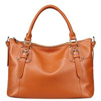 The spring of 2014 the new female bag British tide rivet handbag selected head layer cowhide his parcel  messenger bags RL076