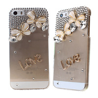 Owl,LOVE Flying Butterfly multi design Waterdrop Crystal Protector Case Rhinestone Transparent for iPhone 5/5s 2X MS211-9#S3