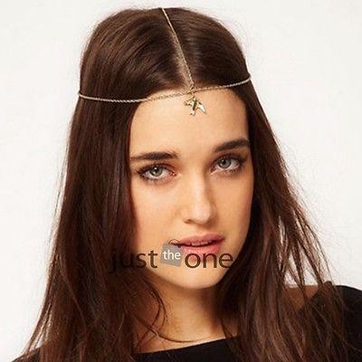 Hot New Pendant Boho Swallow Alloy Lady'ss Hair Chain Head Wrap Headband Fringe(China (Mainland))