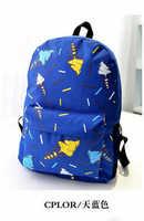 HOT! Canvas backpack cartoon mochila icecream printing backpack shoulder bags