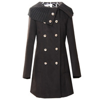 New Warm Clothes Cotton Blend Women Jacket Coat Overcoats Long Outerwear Wrap Clothing Tops
