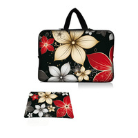 Hot 12 13 13.3 14 15 15.6 17 Inch Laptop Sleeve Bag Case Hide Handle + Mouse pad Anti-slip Mousepad For Asus Dell HP Notebook