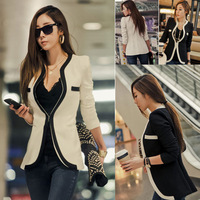 2014 HOT Suit Tops Blazer Women Jackets thin outerwear fashion coat women black and white suit jacket blaser feminino yjy 6418