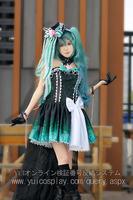 VOCALOID Hatsune future night queen cos  Cosplay Costume Make Size S/M/LXL