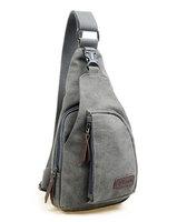 Wholesale Vogue Canvas Men Bag Shoulder Casual Sling Belt Tote Travel Handbag
