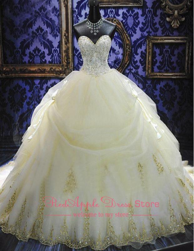 extravagant kathedrale zug chiffon mit sicke brautkleider 2014 Luxus Schatz vestidos de noivas maßgeschneiderte