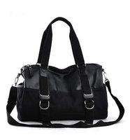 Free Shipping High Quality Canvas + PU Leather Men Bag Shoulder Casual Sling Belt Tote Handbag