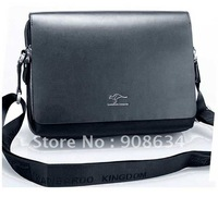 Free Shipping Fashion Large Men's PU Leather Shoulder Business Messenger Bag