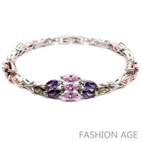 2014 New Design Fashionable AAA Quality Cubic Zircon Bracelet Platinum Plated Bracelet&Bangles For Women (FB-15)