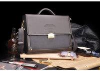 Durable PU Leather Men Bag Shoulder Casual Sling Belt  Business Briefcase Bags M069