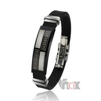 Fashion bracelets bangles wholesale silicone&rubber bracelet men jewelry