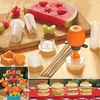 New High Quality Food Decorator 6 Shape Cake Fruit Maker Kitchen Tool Hot Free/Drop Shipping  #ZH060