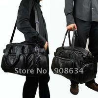 Fashionable Design. New Adjustable Belt Faux Leather Men's GYM Hobo Satchel Schoolbag Bag