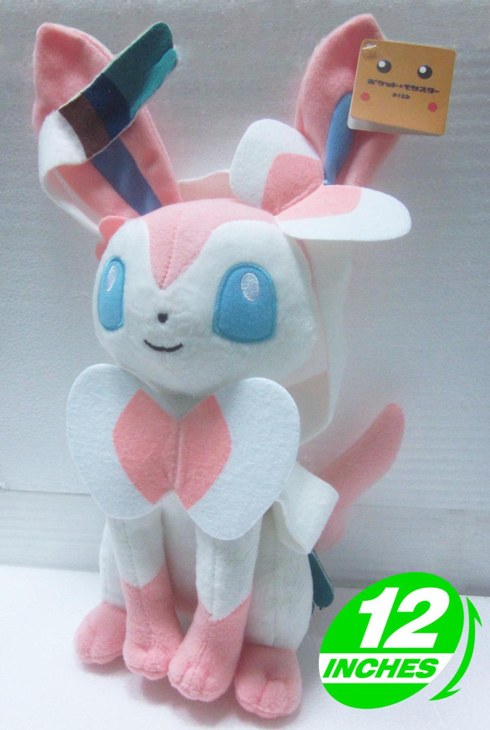 Big Discount! Top Quality Anime Pokemon Sylveon Plush Doll Toys Perfect Gifts Anime Plush Doll Toys PNPL1220(China (Mainland))