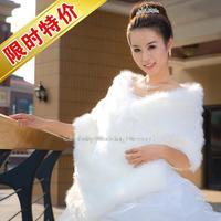 The bride wool shawls wholesale plush big white wedding shawl warm winter long shawl Direct selling ivory lace bolero