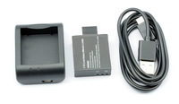 Free Shipping!SJ4000 Cradle Desktop Home Charger+Battery+Charging Cable for SJ4000 Camcorder