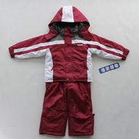 New Arrival Autumn Winter children's rainproof clothings sets Boys Girls Windproof Hooded Snowsuit Retail 92-122