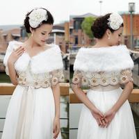 Bridal shawl wedding wrap lace long champagne large buckle autumn and winter shawls