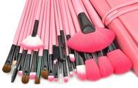 Professional Cosmetic Makeup Brushes Set - Pink + Black  (24 PCS)