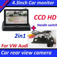Car Rear view camera For Audi A4 8K A5 S5 8T Q5 VW Passat Tiguan Sharan Lavida etc Car parking camera With car mirror monitor