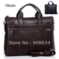 High Quality Artificial Leather Men's Messenger Shoulder Briefcase Laptop Bag
