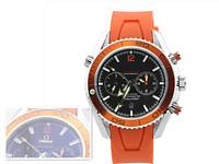 2014 new s w i s s Business brand luxury men ms sport watch,mechanical pu silicone watch, calendar Free shipping
