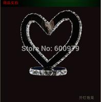 Modern lamp heart shape  LED crystal table lamp aslo for wholesale