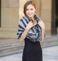 Wholesale 2014new scarf100% Natural rabbit fur and mohair Fabric Collar cloak plus size cardigan women ladies autumn winter