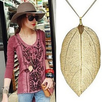 2014 New Arrival  Fashion Gold Long  Necklace  Women Coat Chain Pendant  Necklace Free Shipping 140625