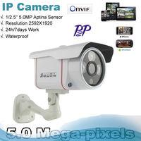 High Resolution P2P Network IP Camera 5.0 MegaPixel HD Resolution 1920P  3 Array  IR Leds Onvif CCTV camera