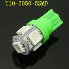 8psc/lot T10 LED 5 SMD 5050 Bulbs Side Light 194 168 W5W 12V LED Wedge Lamp Free Shipping(China (Mainland))
