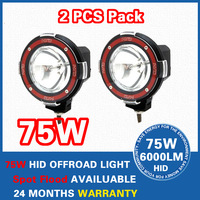 "12V 75W 4"" Spot Beam Truck/Boat Fog Lamp ,Hid Driving Light ,HID Off Road Light,Hid Xenon Work Light Free Shipping"