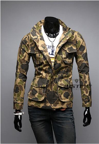 New Fashion Man Jackets Camouflage Army Cloth Zipper Military equipment Men Jackets Autumn Winter roupas masculinas Coat Quality(China (Mainland))