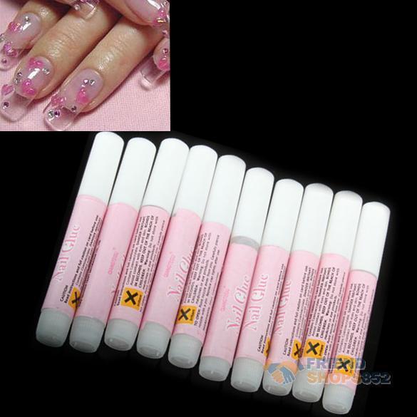 10 x 2g Mini ProfessionaL Beauty Nail False Art Decorate Tips Acrylic Glue F#OS(China (Mainland))