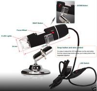 Free Shipping Endoscope Magnifier Camera 2.0MP W/ 8 LED 500X USB Digital Microscope