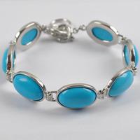 Blue Turquoise Beads Bracelet Bangle Jewelry Free Shipping G068