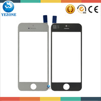 Outer Glass For iPhone 5c Front Screen Replacement Repair Part Black White Color 10pcs/lot Free Shipping